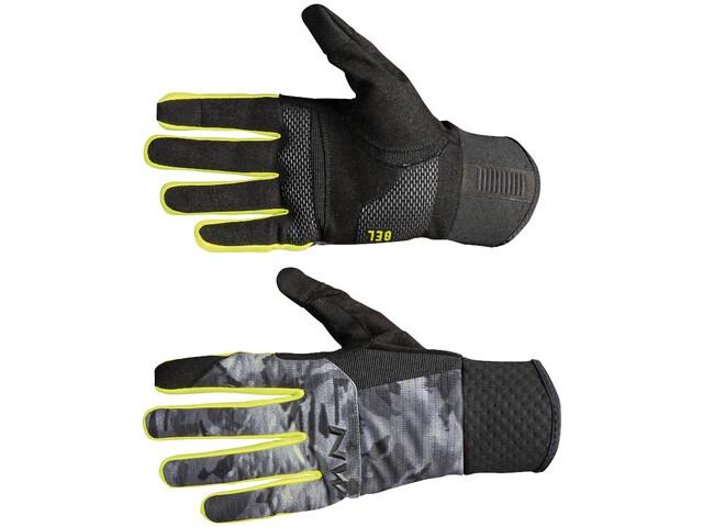 Northwave Power 3 Full Handschoenen Heren, camo black/yellow fluo
